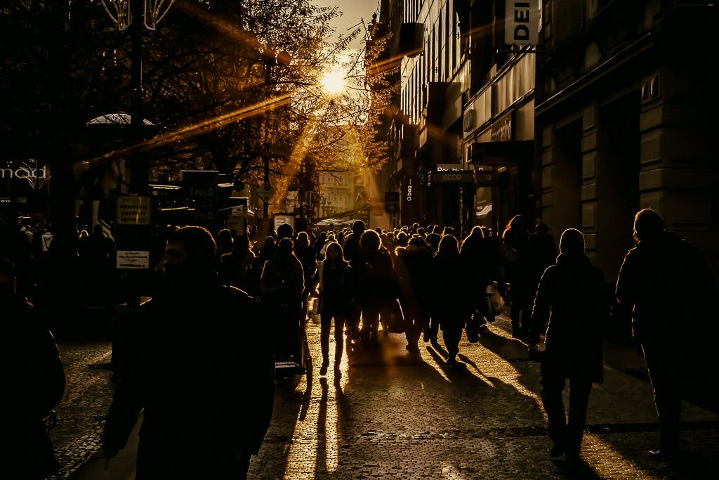 Sunset-prague-street