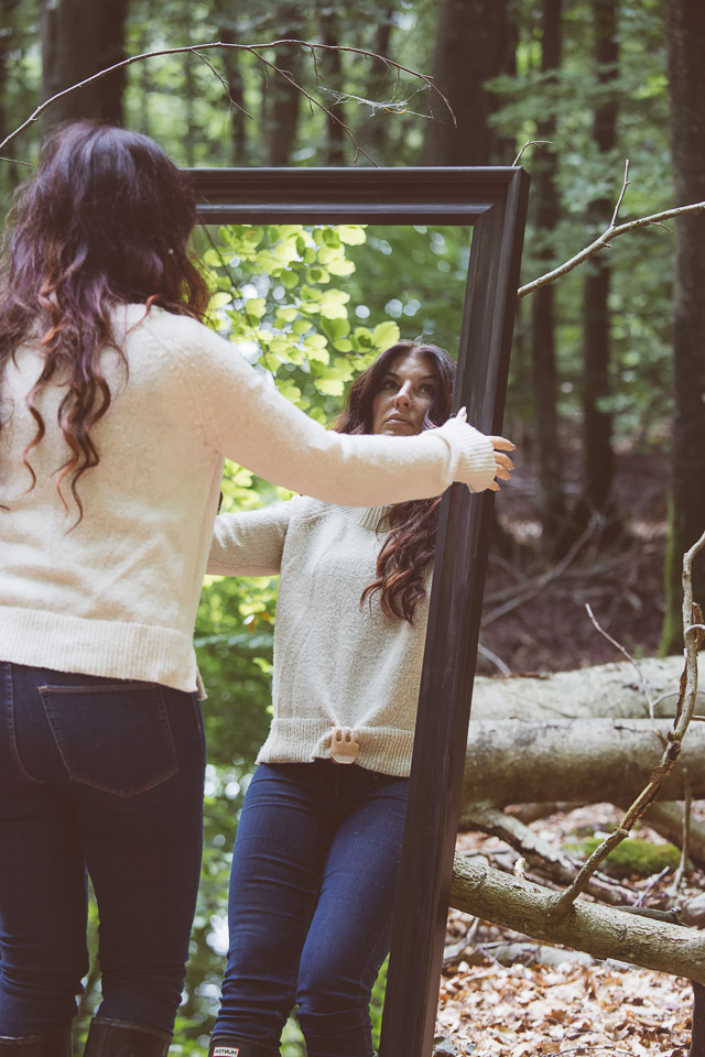 mirror-in-forest
