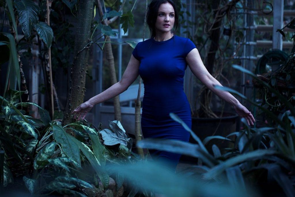 woman-in-blue-dress